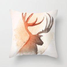 Sunlight Deer Throw Pillow