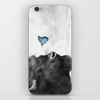 Bison and Butterfly (square format) iPhone & iPod Skin