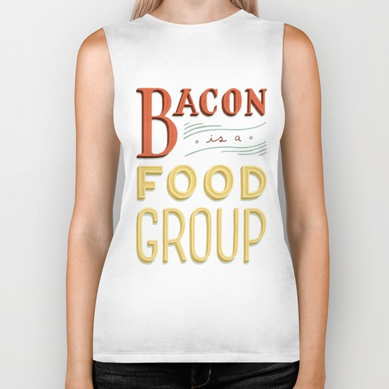 Bacon is a Food Group Biker Tank