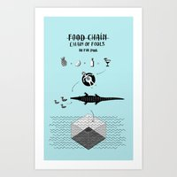 Food chain Art Print