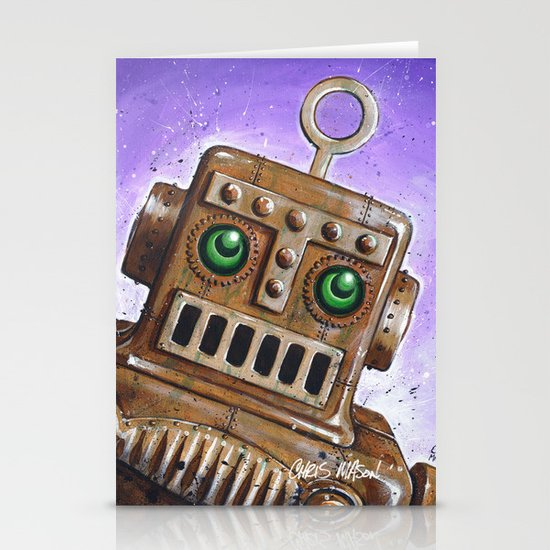 i.Friend: Steam Punk Robot Stationery Card