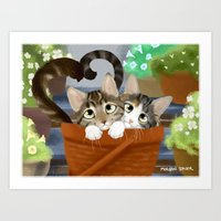 Kitty Cat Love Art Print