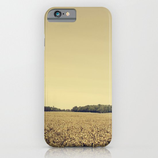 Lonely Field in Brown iPhone & iPod Case