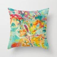 Abstract Painting ; Call… Throw Pillow