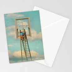 Window cleaner in the sky 02 Stationery Cards