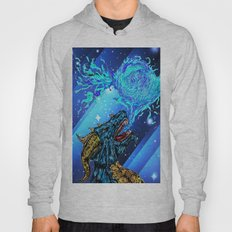 blue dragon fire artist Hoody