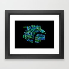 Alphabet Cities 001 - London Framed Art Print