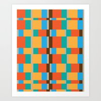 Color Patterns Art Print