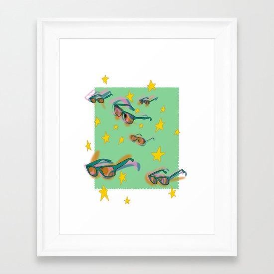 summer stamp Framed Art Print