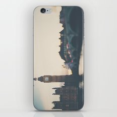 sunset over the city ... iPhone & iPod Skin