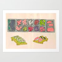 Sushi Doodle! Art Print