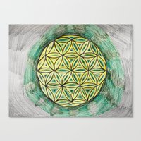 Green Mandala Canvas Print
