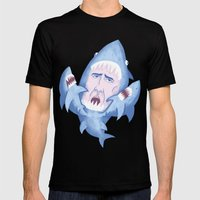 Nic Cage is Sharks! Mens Fitted Tee Black SMALL