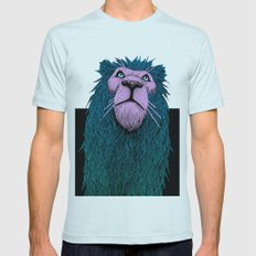 Lion Bust Mens Fitted Tee Light Blue SMALL