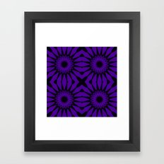 Purple Flowers Mandala Pattern Framed Art Print