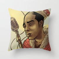 Proclaimed King of Rap Throw Pillow