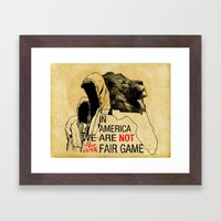 Fair Game Framed Art Print