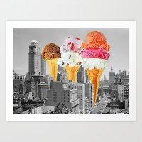 Urban Delights 1 Art Print