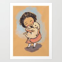 I Love Puppies Art Print