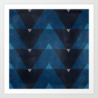 Greece Arrow Hues Art Print