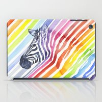 Zebra Rainbow Stripes Camouflage iPad Case