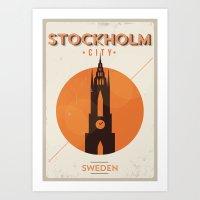 Vintage Stockholm Poster Art Print