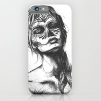 sugar skull iPhone & iPod Cases featuring Sugar Skull by Lena Safaniouk