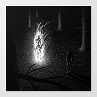 Drawlloween 2015: Skelet… Canvas Print