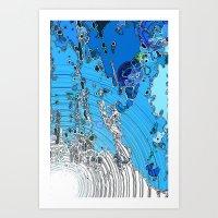 Seeping Colour  Art Print
