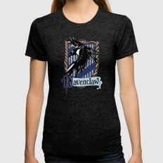 Ravenclaw Team Flag Embl… Womens Fitted Tee Tri-Black SMALL