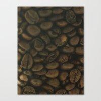 Coffee pattern, fine art photo, Coffeehouse, shops, bar & restaurants, still life, interior design Canvas Print