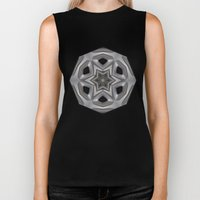 Abstract kaleidoscope of a wheel cover Biker Tank