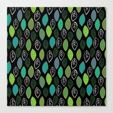 Modern Abstract Leaf Pattern Canvas Print