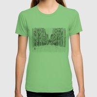 Fog and Rain: Cityscape (WHITEOUT) Womens Fitted Tee Grass SMALL