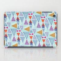 Geometric Mid Century Modern Triangles 2 iPad Case