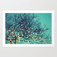 Twinkle Lights Art Print