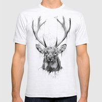 DARK DEER Mens Fitted Tee Ash Grey SMALL