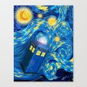 Blue Phone box Starry the night iPhone 4 4s 5 5c 6, pillow case, mugs and tshirt Canvas Print