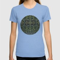 A Tangle Of Vines Womens Fitted Tee Athletic Blue SMALL