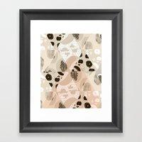 Fruit Geometry Framed Art Print