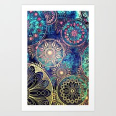 MAYAN TEXTURE 1 - for iphone Art Print