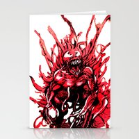 Carnage Watercolor Stationery Cards