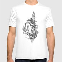 Castle In The Sky Mens Fitted Tee White SMALL