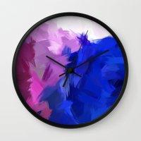 BLOSSOMS - PURPLE Wall Clock