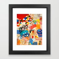 Wallpaper And Diamonds P… Framed Art Print