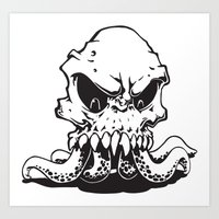 Art Print featuring Squiddy by LocalMadMAn