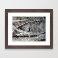 Wood Love Ivy  Framed Art Print