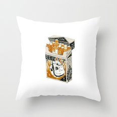 'Cracking Heads' Throw Pillow