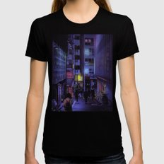 Shibuya Nights / Bouncing Lights Womens Fitted Tee Black SMALL