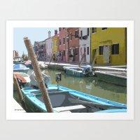 Barca De Burano Art Print